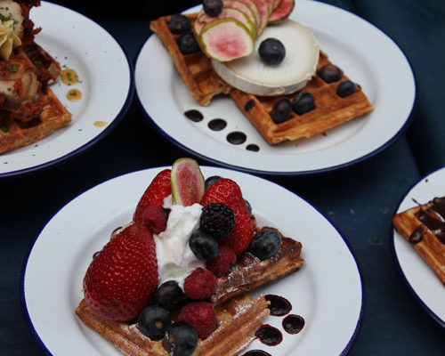 Waffles, Berries and Cream - London Food Tour